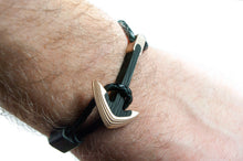 Load image into Gallery viewer, Carbon fiber bracelet , Bronze and carbon fiber , carbon fiber anchor