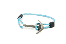 Load image into Gallery viewer, Titanium / Carbon fiber anchor bracelet (blue reflective paracord)