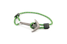 Load image into Gallery viewer, Titanium / Carbon fiber anchor bracelet (survival camo paracord)