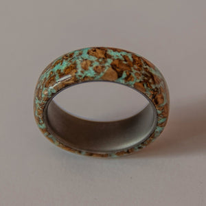 Glow in the dark ring, glow cork, titanium glow in the dark ring