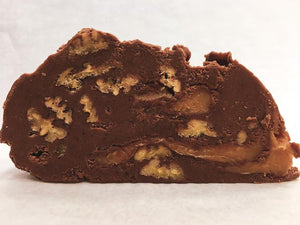 Chocolate Pecan Turtle Fudge