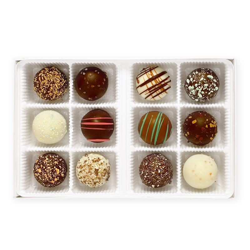 Handmade Truffles (Box of 12) - Chip's Special Assortment (Best Sellers)