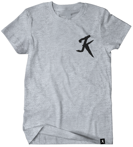 K icon heather grey