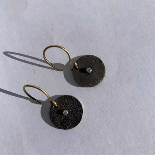 Moriah Stanton - Small Diamond disc earrings
