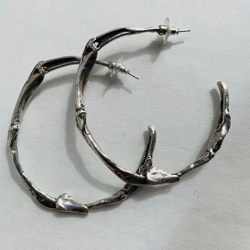 Noel Harvey - sculptural Hoops 3""
