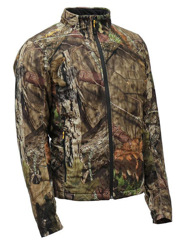 Heated battery operated camo hunting jacket to keep you warm in the winter