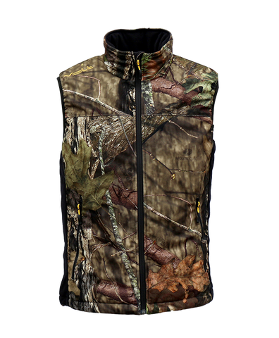 Heated battery operated camo hunting vest to keep you warm in the winter