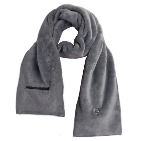 HEATED SCARF - GREY