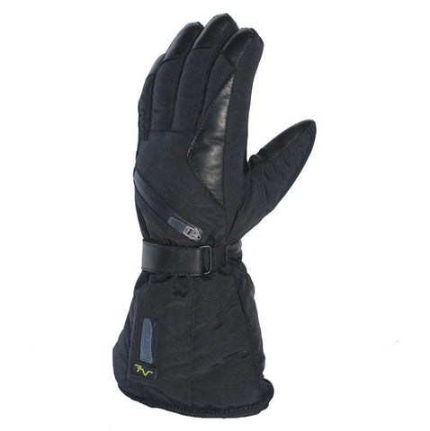 Keep your hands warm with these long lasting battery operated heated black snow gloves for skiing, snowboarding, hunting and all your favorite outdoor sports at All Things Heated Canada.
