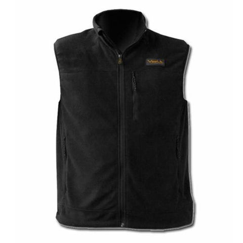 Heated battery operated black vest for work, ski, hike, outdoor sporting events to keep you warm in the winter