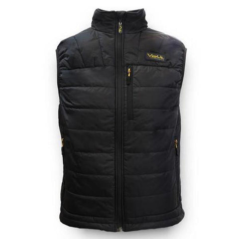 Black heated battery operated black vest for work, ski, hike, outdoor sporting events to keep you warm in the winter