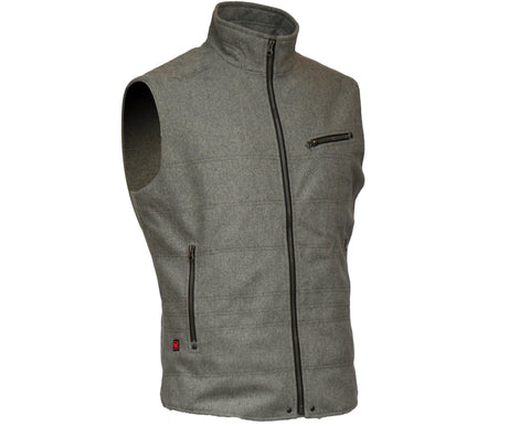Heated on the chest and back this vest will keep you warm and stylish. Powered by a lasting battery
