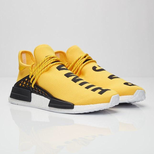 new photos 4a771 728bb Pharrell x adidas NMD HU Race 'Yellow'