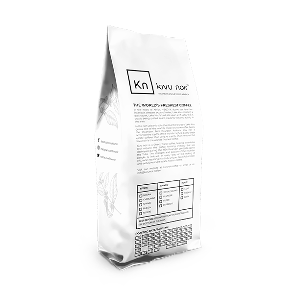 Kivu noir Single Estate whole beans 1 LB