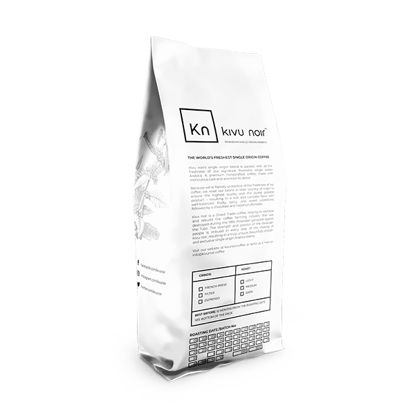 Kivu noir Single Origin whole bean 1 LB