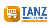 TANZ Products Ecommerce Site Logo deplicts a shopping cart and a statement of intent your product provider
