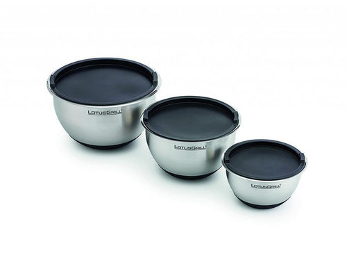 Stainless Steel Bowls - Silicon Covers-3pc Set - TANZ Products