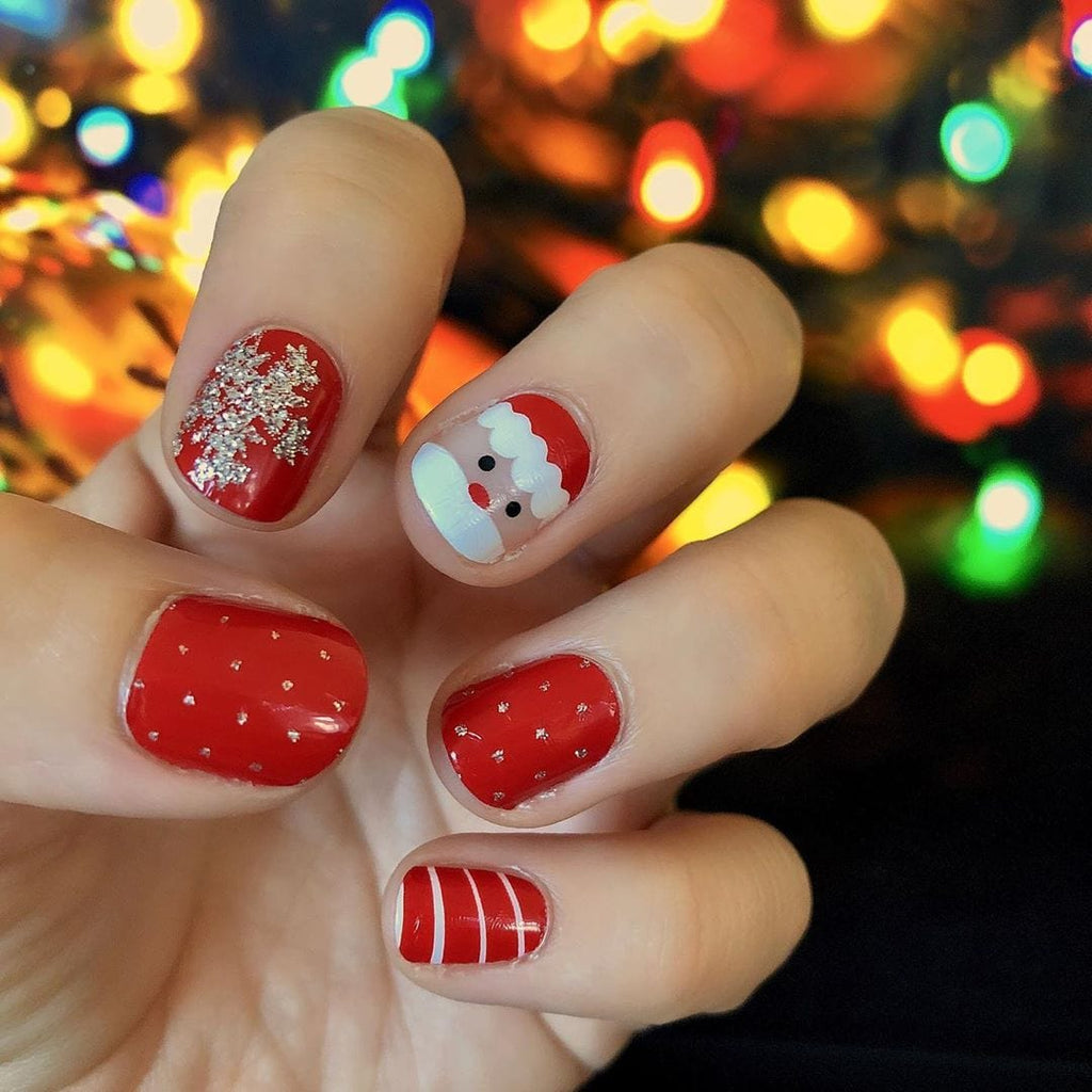 Holiday Wishes | Glitter Christmas Santa Nail Wraps