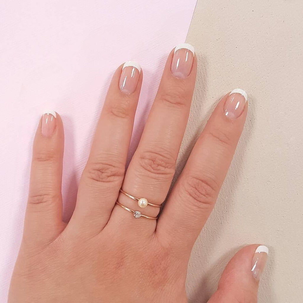 Bonjour | Classic French Tip Transparent Nail Wraps