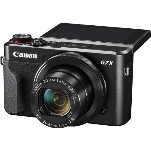 Canon PowerShot G7 X Mark II Digital Camera - Black - Hashtechguy