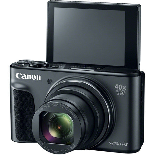 Canon PowerShot SX730 HS Digital Camera - Black - Hashtechguy