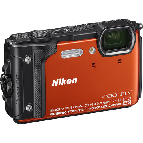 Nikon COOLPIX W300 Digital Camera - Orange - Hashtechguy