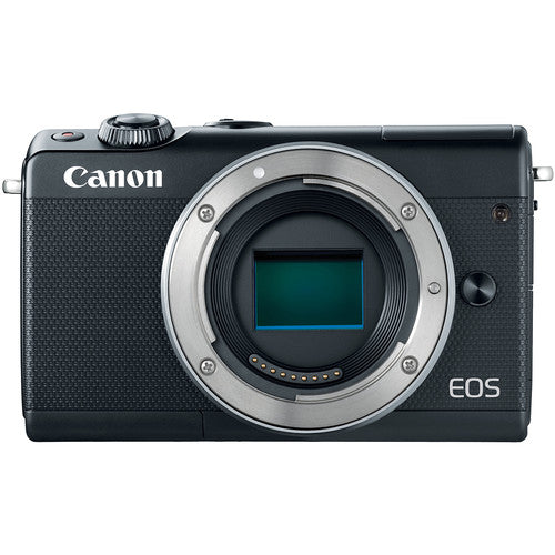 Canon EOS M100 Mirrorless Digital Camera with 15-45mm Lens - Black - Hashtechguy