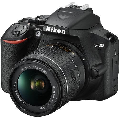 Nikon D3500 DSLR Kit (AF-P 18-55mm VR) Black - Hashtechguy