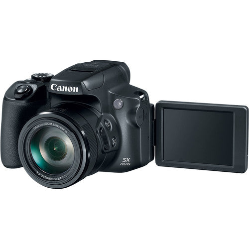 Canon PowerShot SX70 HS Digital Camera - Black