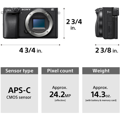 Sony Alpha a6400 Mirrorless Digital Camera with 16-50mm Lens - Hashtechguy