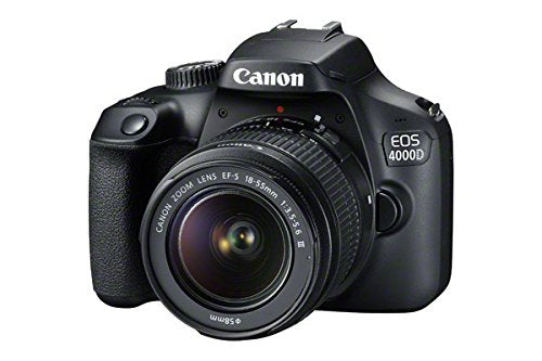 CANON EOS 4000D DSLR Camera with EF-S 18-55 mm f/3.5-5.6 III Lens - Hashtechguy