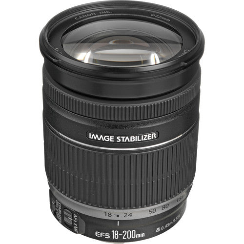 Canon EF-S 18-200mm f/3.5-5.6 IS Lens [Retail Packing] - Hashtechguy