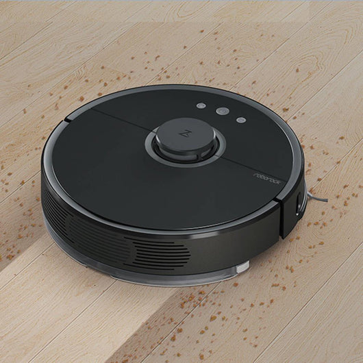 Mijia Roborock S55 Robot Vacuum Cleaner 2 Automatic Area Cleaning 2000Pa Suction 2 in 1 Sweeping Mopping Function LDS Path Planning 5200mAh Battery MI Vacuum Cleaner - Black - Hashtechguy