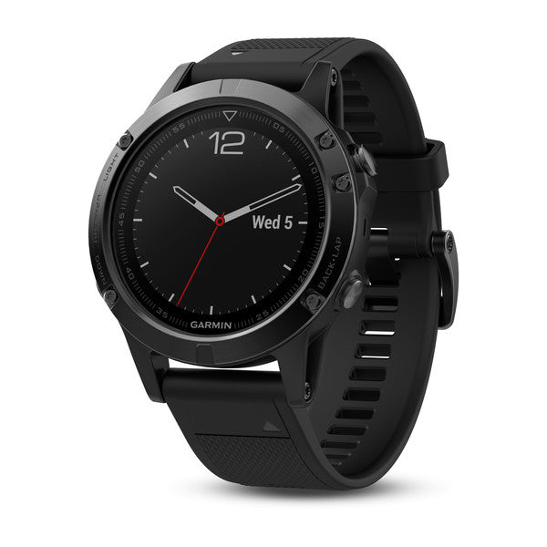 Garmin Fenix 5 Sapphire black with black band Smart Watch (English Version - Asian Spec SN 010-01688-60) - Hashtechguy
