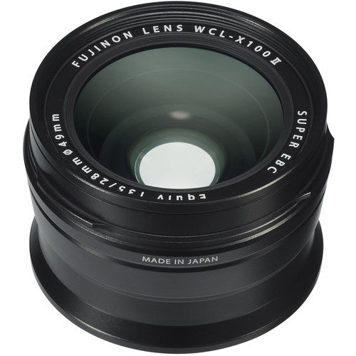 FUJIFILM WCL-X100 II Wide Conversion Lens - Black - Hashtechguy