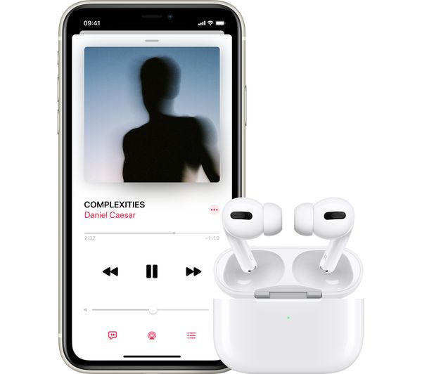 Apple AirPods Pro with Wireless Charging Case - White (MWP22) - Hashtechguy