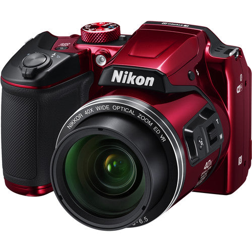 Nikon COOLPIX B500 Digital Camera - Red - Hashtechguy