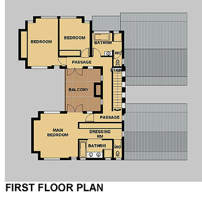 4 Bedroom Bali House Plan - B312AN Photo