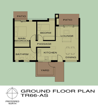 2 Bedroom Traditional House Plan - TR66AS Photo