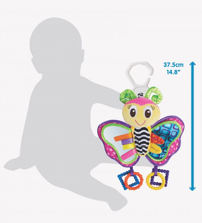 Playgro activity toys size in ratio to the toddler