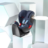 A display of GB Uni All infant car seats in grey with white installation at the back | Not Too Big  | One Stop Online Shop for Baby Products in Singapore