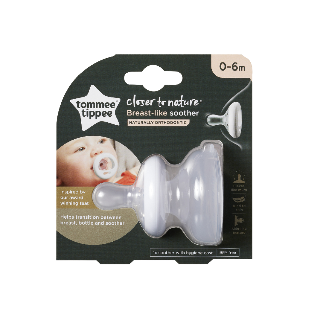 [Tommee Tippee] Teat-Like Soother with Cover - Not Too Big (0-6 months)