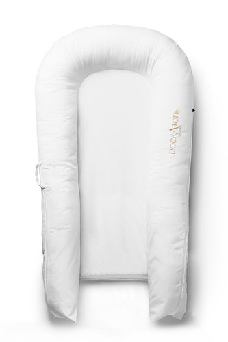 Dockatot Pristine White Grand Docks for baby 9-36 months
