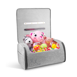 59s Grey UV Sterilizer bag with many plush toy inside