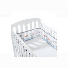 Load image into Gallery viewer, [Breathable Baby] Mesh Liner - Not Too Big (Enchanted Forest) in a baby cot