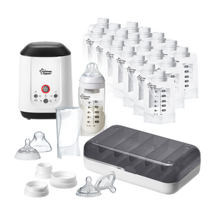[Tommee Tippee] Express & Go Complete Breast Milk Starter Set - Not Too Big