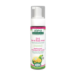 [Aleva Naturals] 2 in 1 Hair & Body Wash - 200ml (6.75fl.oz) - Not Too Big