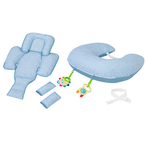 [Clevamama] ClevaCushion Nursing Pillow & Baby Nest - Not Too Big (Blue)
