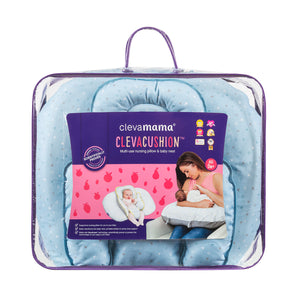[Clevamama] ClevaCushion Nursing Pillow & Baby Nest - Not Too Big (Blue Packaging)