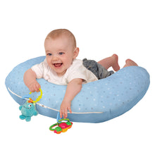 Load image into Gallery viewer, Playtime with the [Clevamama] Blue ClevaCushion Nursing Pillow & Baby Nest - Not Too Big